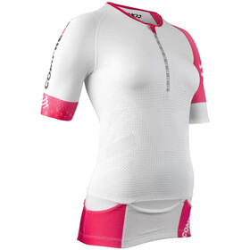Compressport Triathlon Postural Aero Shortsleeve Top Women, white